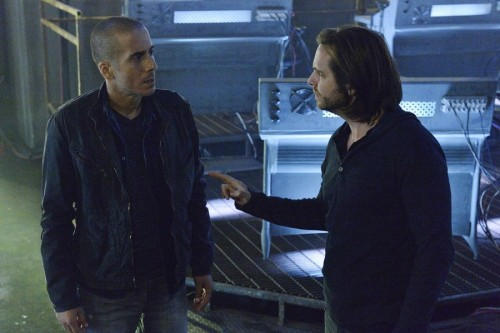 Photo by: Ben Mark Holzberg/Syfy -- Pictured: Kirk Acevedo as Ramse, Aaron Stanford as James Cole