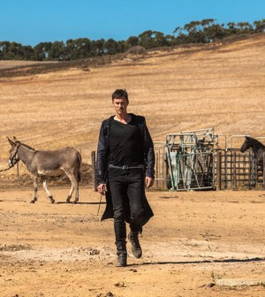 """DOMINION -- """"Heirs of Salvation"""" Episode 201 -- Pictured: Tom Wisdom as Michael -- (Photo by: Ilze Kitshoff/Syfy)"""