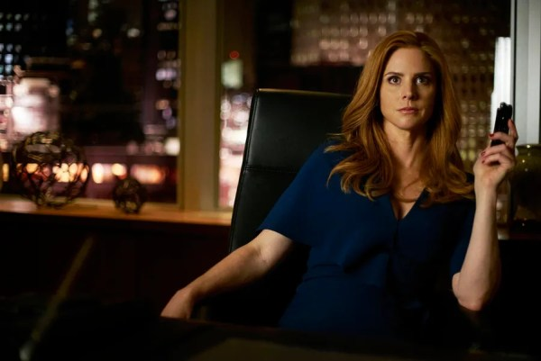 """SUITS -- """"Mea Culpa"""" Episode 508 -- Pictured: Sarah Rafferty as Donna Paulsen -- (Photo by: Shane Mahood/USA Network)"""