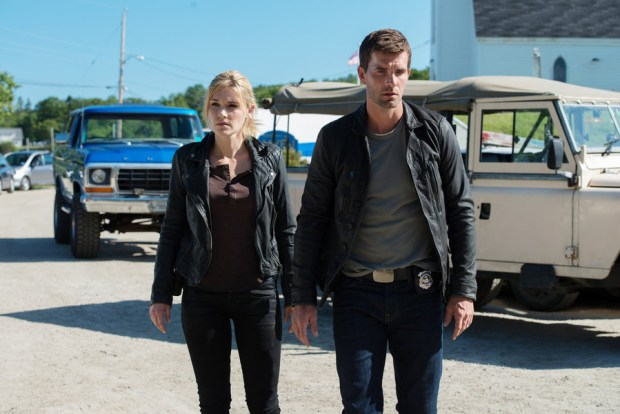 Pictured: Emily Rose as Audrey Parker, Lucas Bryant as Nathan Wuornos -- (Photo by: Mike Tompkins/Haven 5 Productions/Syfy)