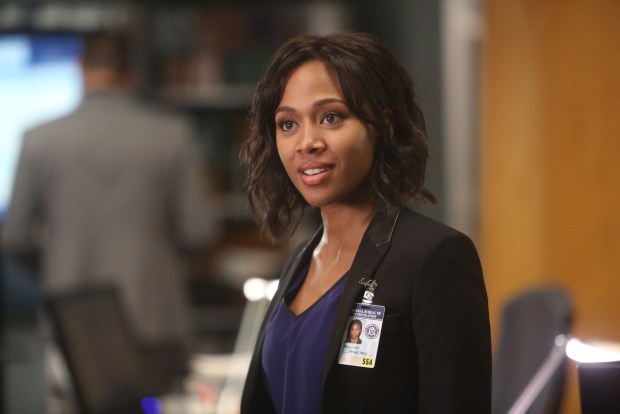 "BONES:  Guest star Nicole Beharie (Abbie Mills) in the special ""The Resurrection in the Remains"" BONES/SLEEPY HOLLOW crossover episode of BONES airing Thursday, Oct. 29 (8:00-9:00 PM ET/PT) on FOX.  ©2015 Fox Broadcasting Co.  Cr:  Jordin Althaus/FOX"