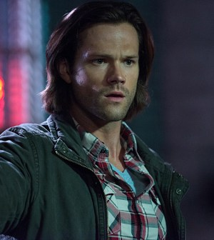 """Sam looks pretty disgusted in Supernatural -- """"The Bad Seed"""" (we hope it's not a reaction to Castiel's Pink eye because, y'know, that could hurt a guy's feelings). Jared Padalecki as Sam -- Photo: Diyah Pera /The CW"""