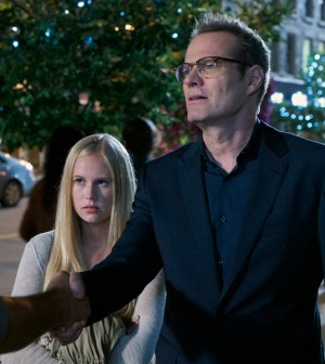 Pictured: (l-r) Danika Yarosh as Malina, Jack Coleman as Noah Bennet -- (Photo by: Steve Wilkie/NBC)