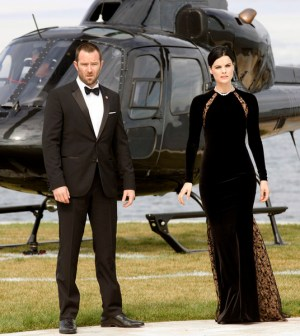 Pictured: (l-r) Sullivan Stapleton as Kurt Weller, Jaimie Alexander as Jane Doe -- (Photo by: Paul Sarkis/NBC)