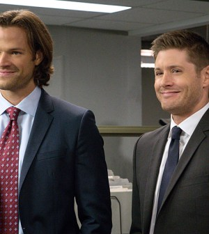 """Supernatural -- """"Plush"""" -- Image SN1107B_0101.jpg -- Pictured (L-R): Jared Padalecki as Sam and Jensen Ackles as Dean -- Photo: Liane Hentscher/The CW"""