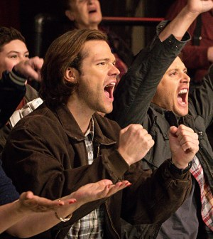 Pictured (L-R): Jared Padalecki as Sam and Jensen Ackles as Dean -- Photo: Liane Hentscher/The CW -- © 2016 The CW Network, LLC. All Rights Reserved.