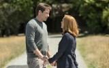 "L-R: David Duchovny and Gillian Anderson in the ""Babylon"" episode of THE X-FILES. Co. Cr: Ed Araquel/FOX"