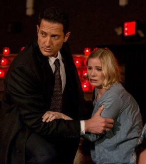 Pictured: (l-r) Sasha Roiz as Captain Sean Renard, Melinda Page Hamilton as Joan Vark -- (Photo by: Scott Green/NBC)