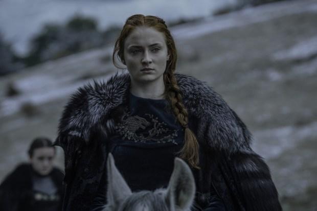 Pictured: Sophie Turner as Sansa Stark Credit: Helen Sloan/HBO