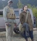 WAYWARD PINES:  L-R:  Djimon Hounsou and guest star Shannyn Sossamon. Co.  Cr:  Sergei Bachlakov/FOX