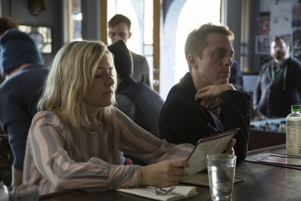 Heléne Yorke, Max Jenkins. Credit: David Russell/HBO