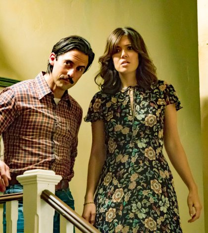 THIS IS US -- Pictured: (l-r) Milo Ventimiglia as Jack, Mandy Moore as Rebecca -- (Photo by: Ron Batzdorff/NBC)