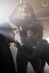 GOTHAM: L-R: Donal Logue and guest star Jada Pinkett Smith | Co. Cr: Jeff Neumann/FOX.