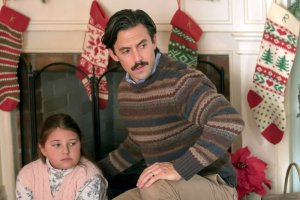 "THIS IS US -- ""Last Christmas"" Episode 110 -- Pictured: (l-r) Mackenzie Hancsicsak as 8 year old Kate, Milo Ventimiglia as Jack -- (Photo by: Ron Batzdorff/NBC)"