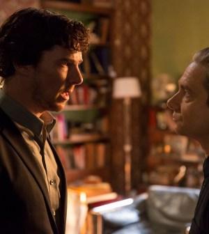 Episode: Sherlock S4 - Ep2 (No. 2) - Picture Shows: **STRICTLY EMBARGOED UNTIL 3RD JAN 2017** Sherlock Holmes (BENEDICT CUMBERBATCH), Dr John Watson (MARTIN FREEMAN) - (C) Hartswood Films - Photographer: Colin Hutton