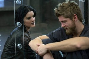 Pictured: (l-r) Jaimie Alexander as Jane Doe, Luke Mitchell as Roman -- (Photo by: Eric Liebowitz/Warner Bros/NBC)