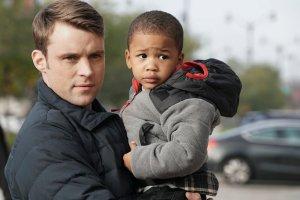 Pictured: (l-r) Jesse Spencer as Matthew Casey, Aiden/Austin Cohen as Louie -- (Photo by: Elizabeth Morris/NBC)