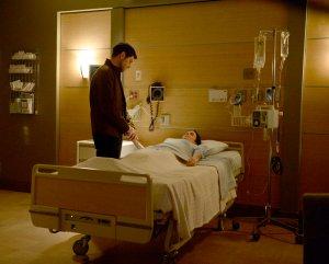 "GRIMM -- ""The Son Also Rises"" Episode 608 -- Pictured: (l-r) David Giuntoli as Nick Burkhardt, Bitsie Tulloch as Eve -- (Photo by: Allyson Riggs/NBC)"