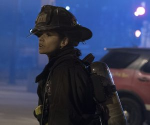 "CHICAGO FIRE -- ""Deathtrap"" Episode 516 -- Pictured: Miranda Rae Mayo as Stella Kidd -- (Photo by: Elizabeth Morris/NBC)"