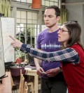 """""""The Collaboration Fluctuation"""" -- Pictured: Sheldon Cooper (Jim Parsons) and Amy Farrah Fowler (Mayim Bialik). Photo: Sonja Flemming/CBS"""
