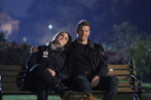 "BONES: L-R: Emily Deschanel and David Boreanaz in ""The Final Chapter: The End in the End"" 