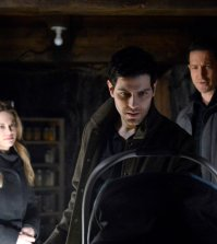 "GRIMM episode 6.12 ""Zerstorer Shrugged""  Pictured: (l-r) Claire Coffee as Adalind Schade, David Giuntoli as Nick Burkhardt, Sasha Roiz as Sean Renard -- (Photo by: Allyson Riggs/NBC)"