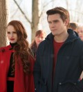 "Riverdale -- ""Chapter Nine: La Grande Illusion""Pictured (L-R): Madelaine Petsch as Cheryl Blossom and KJ Apa as Archie Andrews -- Photo: Diyah Pera/The CW"