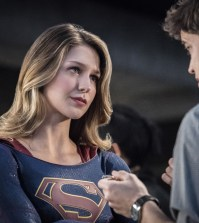 "Supergirl -- ""Star-Crossed"" Pictured (L-R): Melissa Benoist as Kara/Supergirl and Jeremy Jordan as Winn Schott -- Photo: Dean Buscher/The CW"