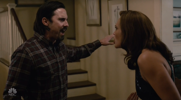 "This is Us ""Moonshadow"" Pictured: Milo Ventimiglia as Jack, Mandy Moore as Rebecca."