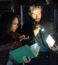 """SLEEPY HOLLOW: L-R: Lyndie Greenwood and Tom Mison in the """"Insatiable"""" episode of SLEEPY HOLLOW airing Friday, March 10 (9:00-10:00 PM ET/PT) on FOX. ©2017 Fox Broadcasting Co. CR: Tina Rowden/FOX"""