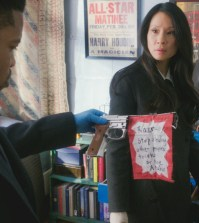 """""""The Art of Sleights and Deception"""" Pictured Jon Michael Hill as Detective Marcus Bell and Lucy Liu as Joan Watson   Photo: Best Possible Screen Grab/CBS"""