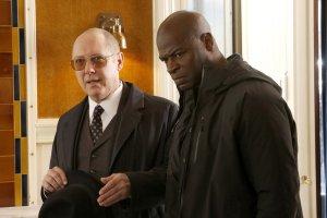"THE BLACKLIST -- ""Dr. Bogan Krilov (#29)"" Episode 419 -- Pictured: (l-r) James Spader as Raymond 'Red' Reddington, Hisham Tawfiq as Dembe Zuma -- (Photo by: Will Hart/NBC)"