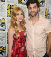 """SHADOWHUNTERS - Comic-Con - Cast and executive producers from Freeform's hit original series """"Shadowhunters"""" and """"Stitchers"""" were featured at this year's San Diego Comic Con with panels, autograph signings and press rooms. (Freeform/Matt Petit) KATHERINE MCNAMARA, MATTHEW DADDARIO"""