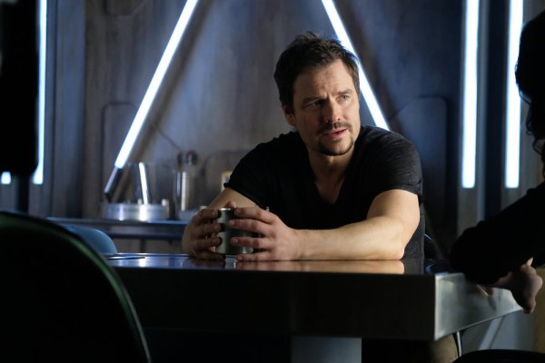 """DARK MATTER -- """"Wish I Could Be You"""" Episode 307 -- Pictured: Anthony Lemke as Three -- (Photo by: Stephen Scott/Dark Matter Series 3/Syfy)"""