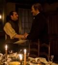 Jamie Bell as Abraham Woodhull, Ian Kahn as General George Washington- TURN: Washington's Spies _ Season 4, Episode 10 - Photo Credit: Antony Platt/AMC