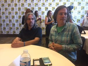 Ty Franck and Daniel Abraham at San Diego Comic Con 2017 | Photo credit Pauline Perenack/ScreenSpy Magazine