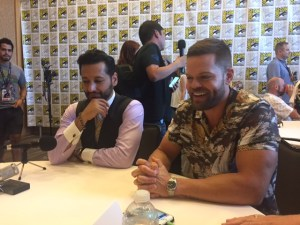 Pictured: Cas Anvar and Wes Chatham at San Diego Comic Con 2017 | Photo credit Pauline Perenack/ScreenSpy Magazine