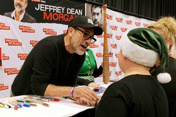 Meeting Jeffrey Dean Morgan of The Walking Dead.