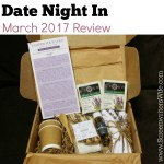 Date Night In Subscription Box Review – March 2017 Pamper Your Love