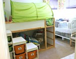 700 sq ft, Family of 5: Three Small Kids in a Small Kids Room