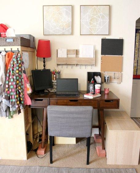 small home desk area