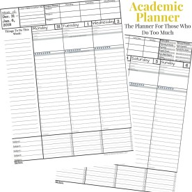 Free 2018 Planner For Those Who Do Too Much - Academic Planner