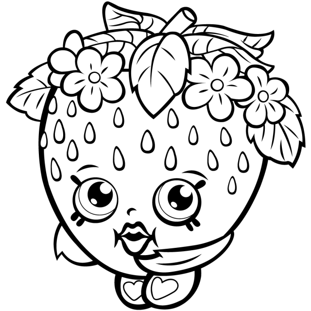 18 Printable Shopkins Coloring Pages