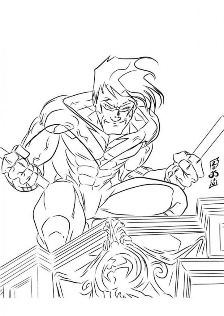 amazing superhero coloring pages you can print
