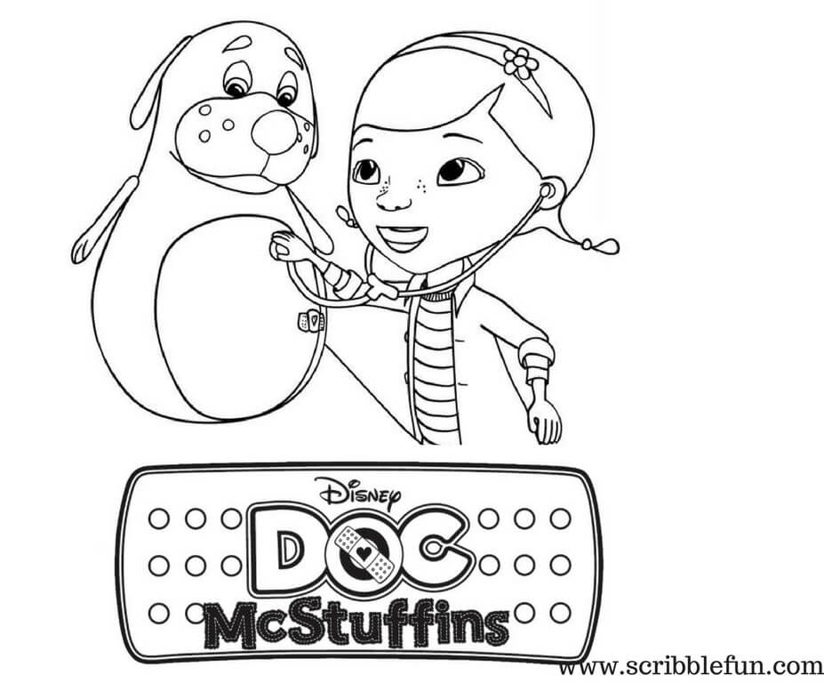 Boppy and Disney Doc McStuffins coloring page