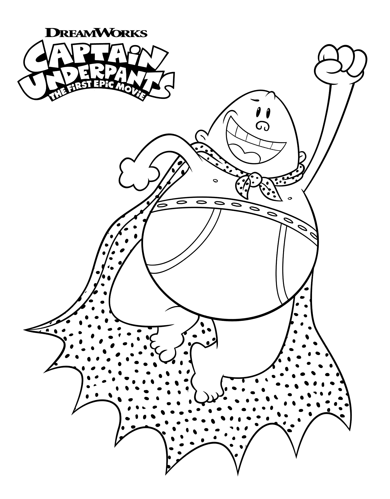 Free Printable Captain Underpants Coloring Pages Scribblefun