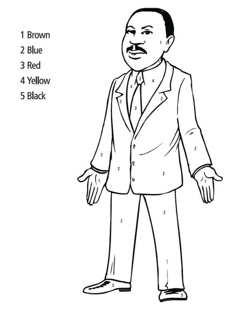 Mlk Coloring Pages Free