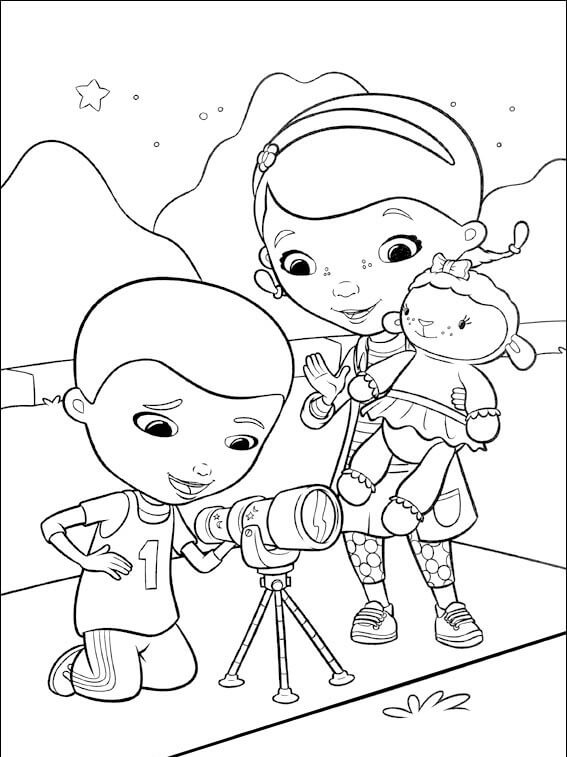 Henry And Doc McStuffins coloring page