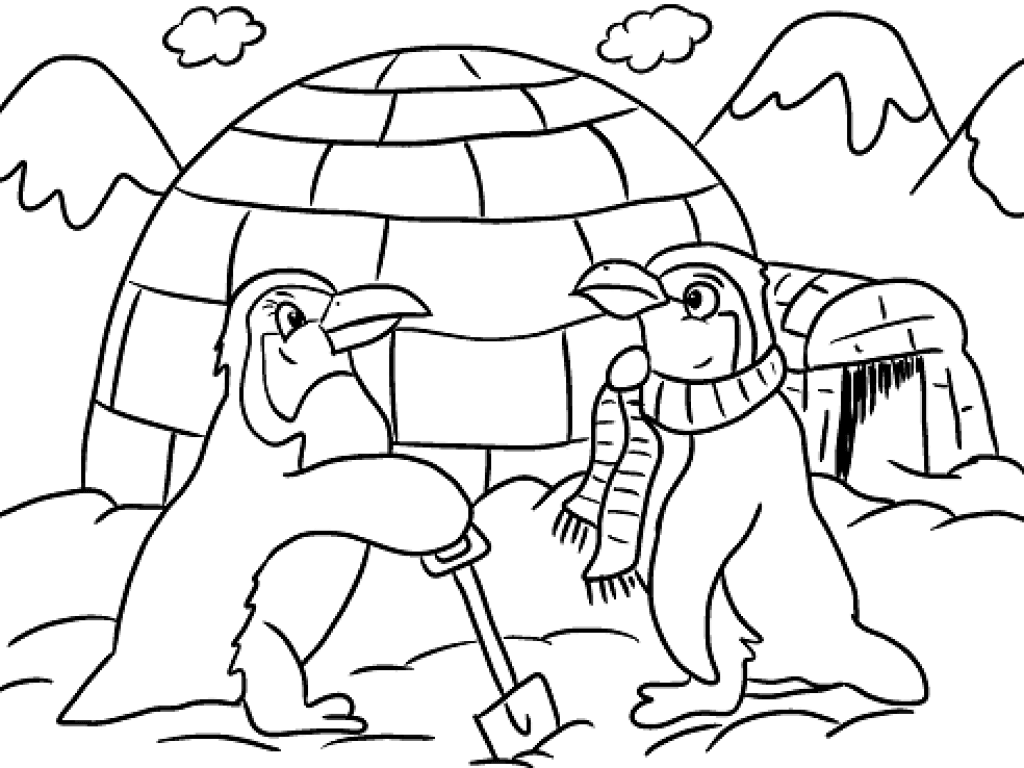 Free Printable Winter Coloring Pages Scribblefun