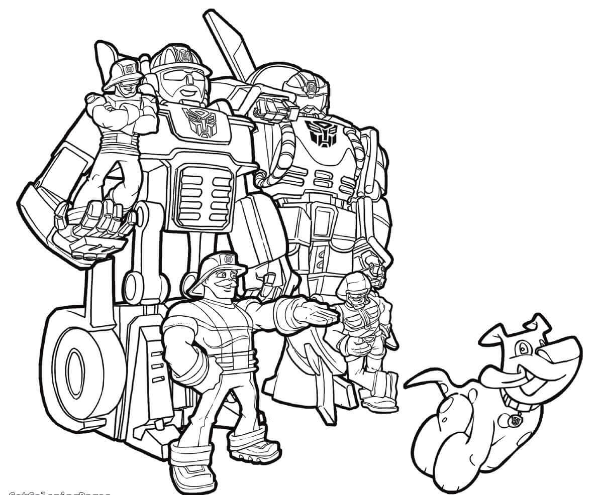20 Printable Transformers Rescue Bots Coloring Pages